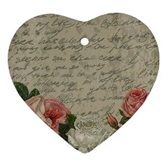 Vintage roses Ornament (Heart)