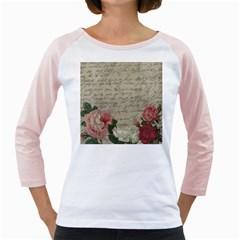 Vintage roses Girly Raglans