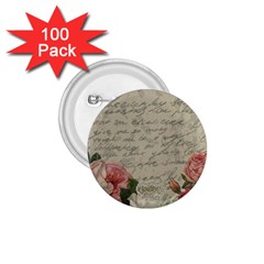 Vintage roses 1.75  Buttons (100 pack)