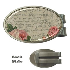 Vintage roses Money Clips (Oval)