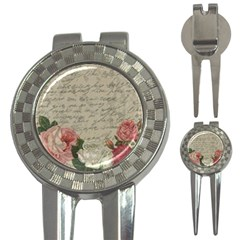Vintage roses 3-in-1 Golf Divots