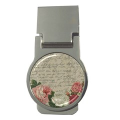 Vintage roses Money Clips (Round)