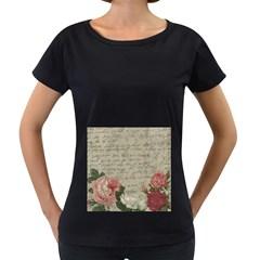 Vintage roses Women s Loose-Fit T-Shirt (Black)