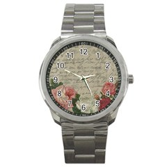 Vintage roses Sport Metal Watch