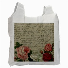 Vintage roses Recycle Bag (One Side)