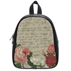 Vintage roses School Bags (Small)