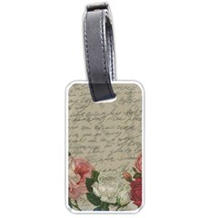 Vintage roses Luggage Tags (One Side)