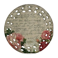 Vintage roses Round Filigree Ornament (Two Sides)