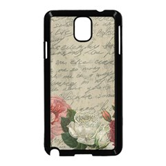 Vintage roses Samsung Galaxy Note 3 Neo Hardshell Case (Black)