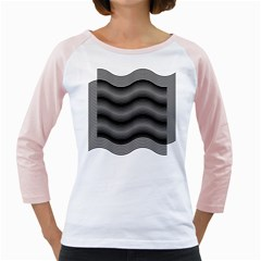 Two Layers Consisting Of Curves With Identical Inclination Patterns Girly Raglans