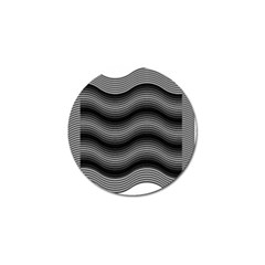 Two Layers Consisting Of Curves With Identical Inclination Patterns Golf Ball Marker (10 pack)