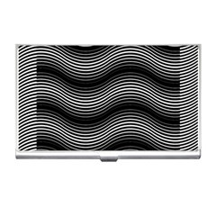 Two Layers Consisting Of Curves With Identical Inclination Patterns Business Card Holders