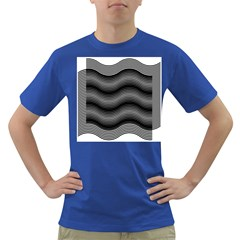 Two Layers Consisting Of Curves With Identical Inclination Patterns Dark T-Shirt