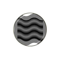Two Layers Consisting Of Curves With Identical Inclination Patterns Hat Clip Ball Marker