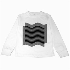 Two Layers Consisting Of Curves With Identical Inclination Patterns Kids Long Sleeve T-Shirts