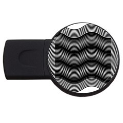 Two Layers Consisting Of Curves With Identical Inclination Patterns USB Flash Drive Round (4 GB)