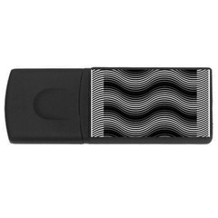 Two Layers Consisting Of Curves With Identical Inclination Patterns Usb Flash Drive Rectangular (4 Gb)