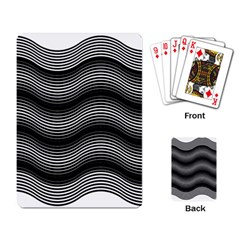 Two Layers Consisting Of Curves With Identical Inclination Patterns Playing Card