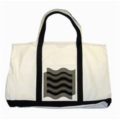 Two Layers Consisting Of Curves With Identical Inclination Patterns Two Tone Tote Bag