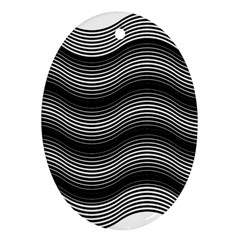 Two Layers Consisting Of Curves With Identical Inclination Patterns Oval Ornament (Two Sides)