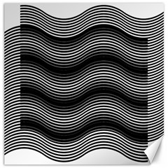 Two Layers Consisting Of Curves With Identical Inclination Patterns Canvas 16  X 16
