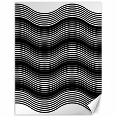 Two Layers Consisting Of Curves With Identical Inclination Patterns Canvas 18  x 24