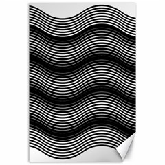Two Layers Consisting Of Curves With Identical Inclination Patterns Canvas 24  x 36