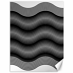 Two Layers Consisting Of Curves With Identical Inclination Patterns Canvas 36  X 48