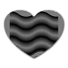 Two Layers Consisting Of Curves With Identical Inclination Patterns Heart Mousepads
