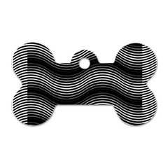 Two Layers Consisting Of Curves With Identical Inclination Patterns Dog Tag Bone (one Side)