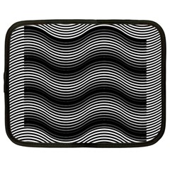 Two Layers Consisting Of Curves With Identical Inclination Patterns Netbook Case (large)