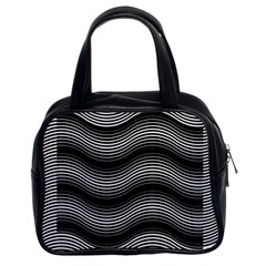Two Layers Consisting Of Curves With Identical Inclination Patterns Classic Handbags (2 Sides)