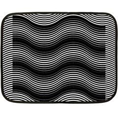 Two Layers Consisting Of Curves With Identical Inclination Patterns Double Sided Fleece Blanket (Mini)