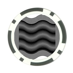 Two Layers Consisting Of Curves With Identical Inclination Patterns Poker Chip Card Guard (10 Pack)