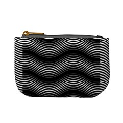Two Layers Consisting Of Curves With Identical Inclination Patterns Mini Coin Purses