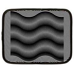 Two Layers Consisting Of Curves With Identical Inclination Patterns Netbook Case (xl)