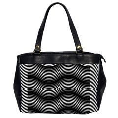 Two Layers Consisting Of Curves With Identical Inclination Patterns Office Handbags (2 Sides)
