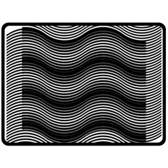 Two Layers Consisting Of Curves With Identical Inclination Patterns Fleece Blanket (Large)