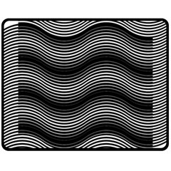 Two Layers Consisting Of Curves With Identical Inclination Patterns Fleece Blanket (Medium)