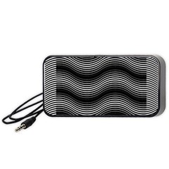 Two Layers Consisting Of Curves With Identical Inclination Patterns Portable Speaker (black)