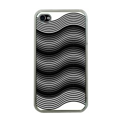 Two Layers Consisting Of Curves With Identical Inclination Patterns Apple iPhone 4 Case (Clear)