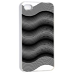 Two Layers Consisting Of Curves With Identical Inclination Patterns Apple iPhone 4/4s Seamless Case (White)