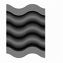 Two Layers Consisting Of Curves With Identical Inclination Patterns Large Garden Flag (Two Sides)