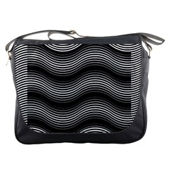 Two Layers Consisting Of Curves With Identical Inclination Patterns Messenger Bags