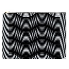 Two Layers Consisting Of Curves With Identical Inclination Patterns Cosmetic Bag (xxl)
