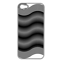 Two Layers Consisting Of Curves With Identical Inclination Patterns Apple iPhone 5 Case (Silver)