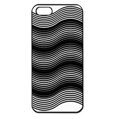 Two Layers Consisting Of Curves With Identical Inclination Patterns Apple iPhone 5 Seamless Case (Black)