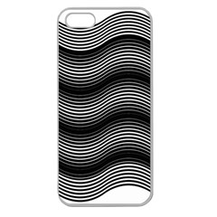 Two Layers Consisting Of Curves With Identical Inclination Patterns Apple Seamless iPhone 5 Case (Clear)