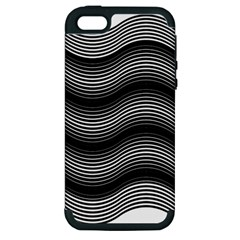 Two Layers Consisting Of Curves With Identical Inclination Patterns Apple iPhone 5 Hardshell Case (PC+Silicone)