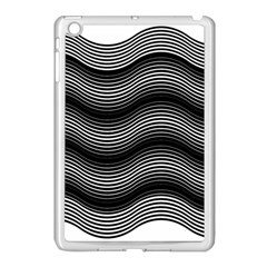 Two Layers Consisting Of Curves With Identical Inclination Patterns Apple iPad Mini Case (White)